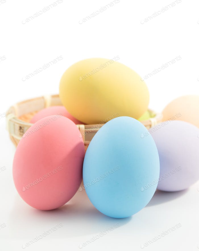 Easter egg on white