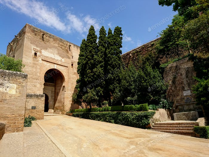 Gate of Justice on a sunny day, Alhambra