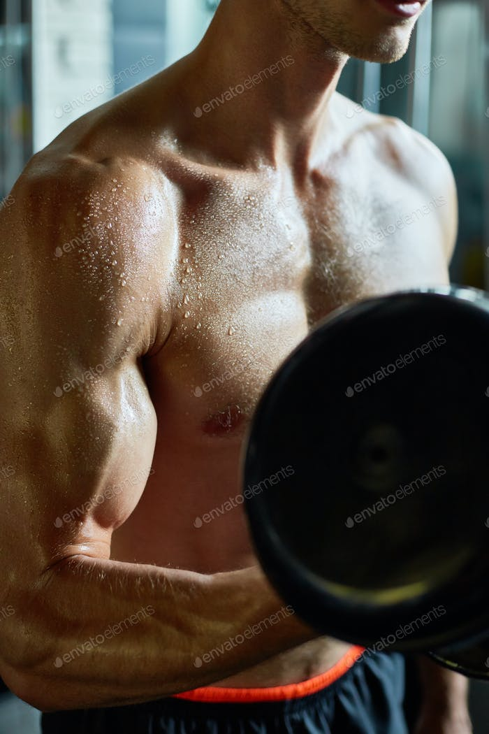 Exercising with Dumbbell