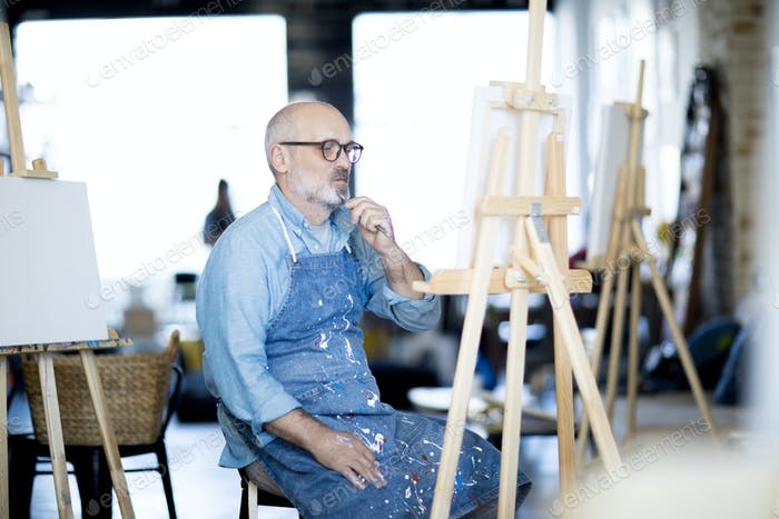 Pensive painter