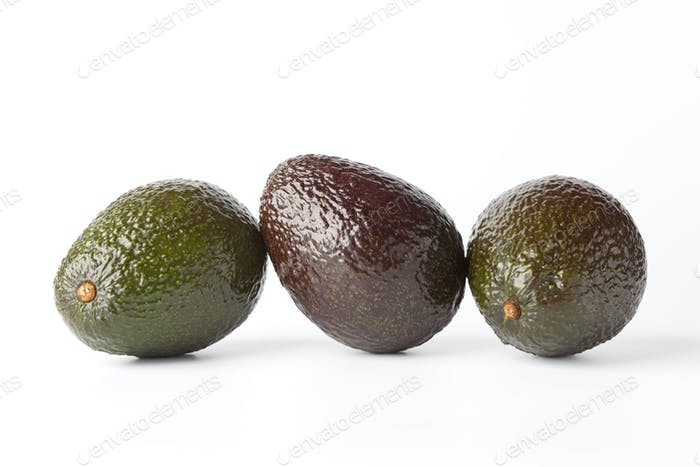 Three avocado's in a row