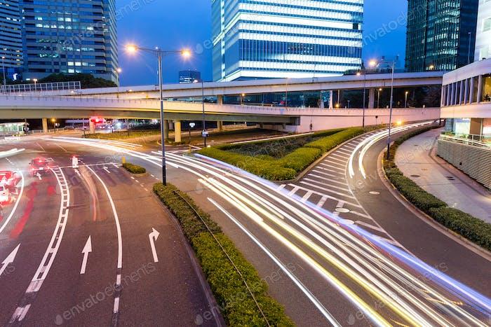 Tokyo businesss district