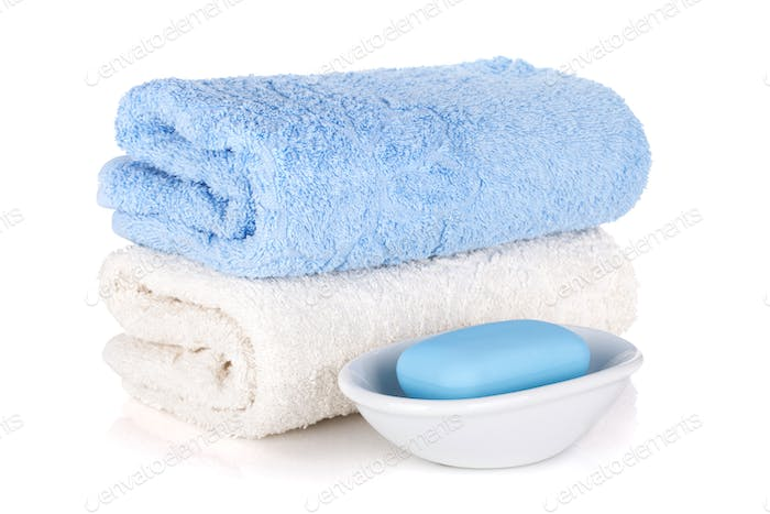 Soap and two towels