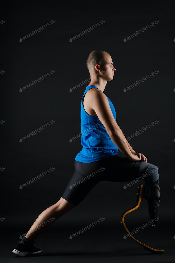 Disabled runner warming up