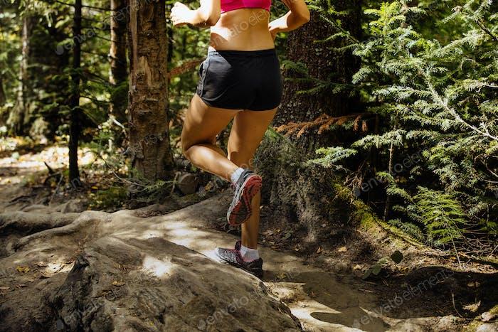 Laufende Frau Marathon