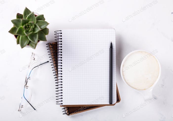Notebook mit Stift.Business Concept