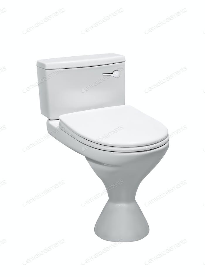 toilet bowl isolated on white
