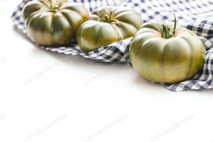 Dark brandywine tomatoes.