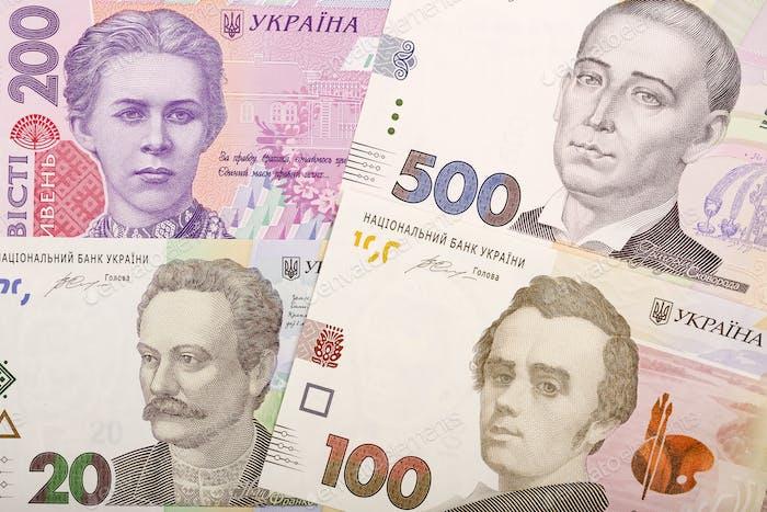 Ukrainian Hryvnia, a background