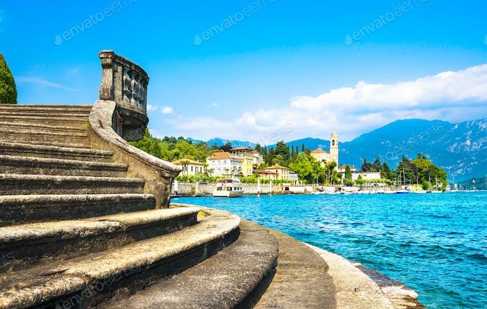 Tremezzo Tremezzina view, Como Lake district landscape. Italy, E