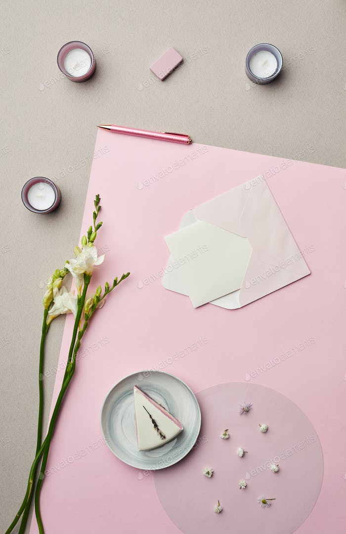 Romantic Letter on Pink
