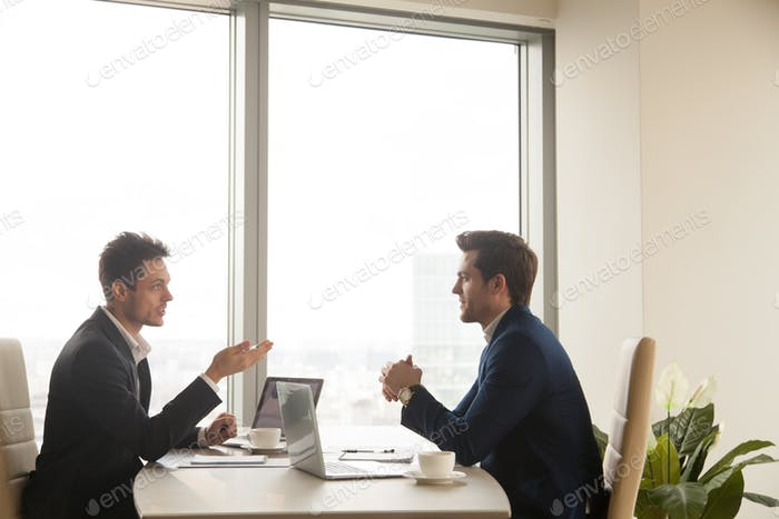 Business meeting of two partners