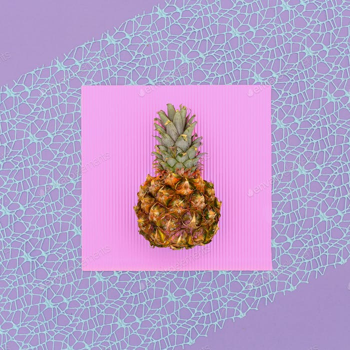 Mini pineapple fashion Geometry Minimal art design Candy Colors