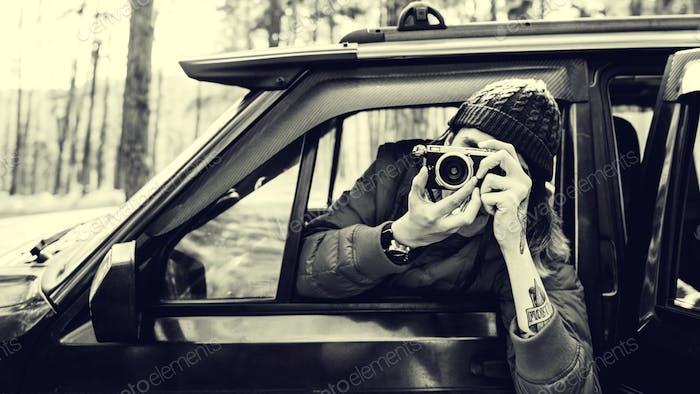 Photographer Taking Photo Journey Leisure Concept