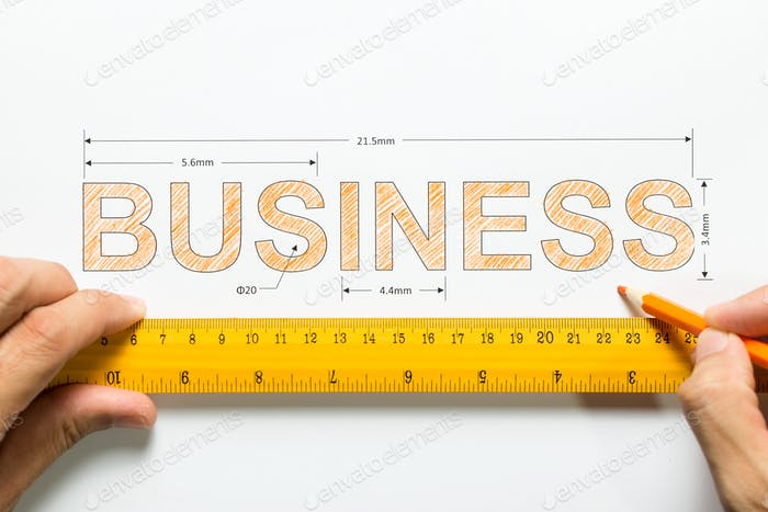 Measure business growth or success