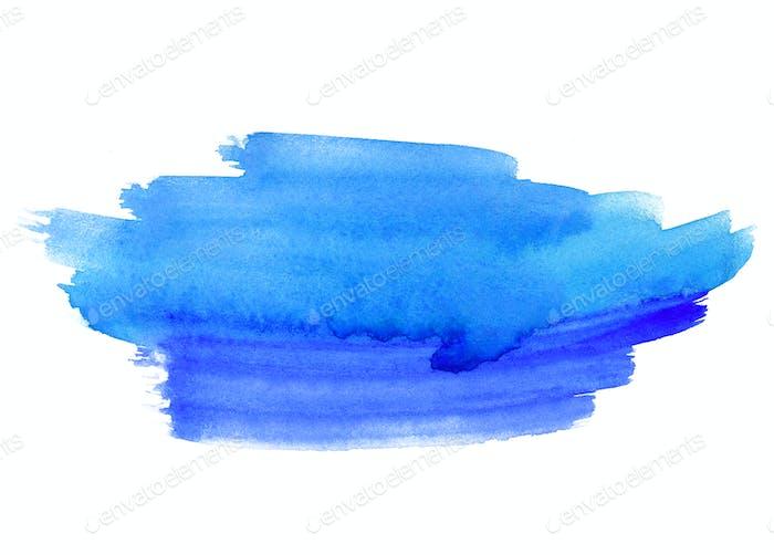 Hellblaue abstrakte Aquarellform