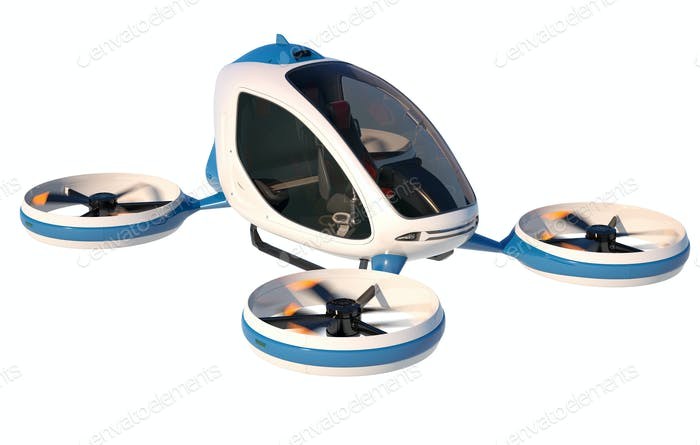 Electric Passenger Drone on white background.