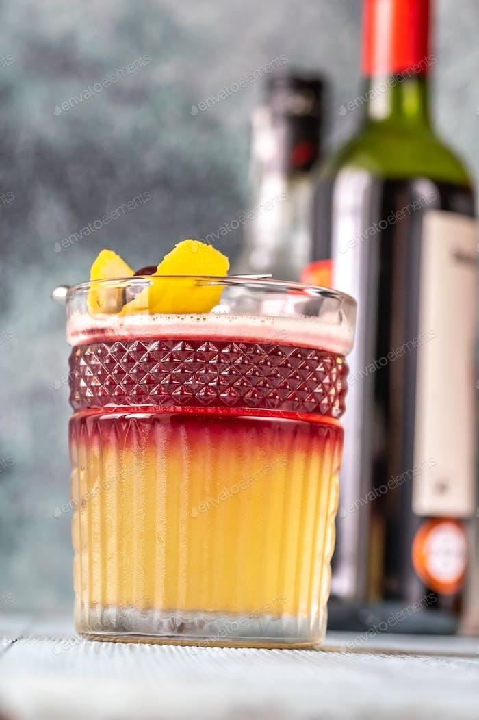 Copa de New York Sour Cocktail