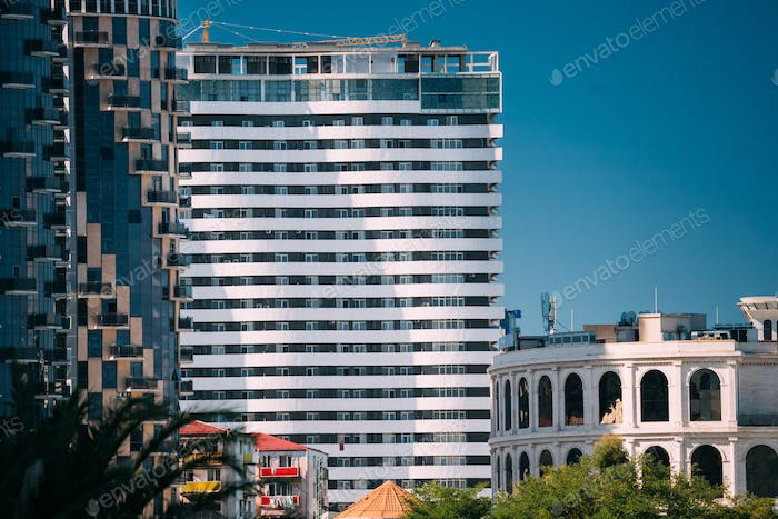 Batumi, Adjara, Georgia. New Multi-storey Residential House