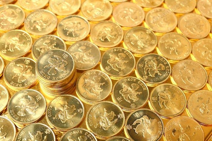 monedas de oro, moneda de Hong Kong $0.5 monedas