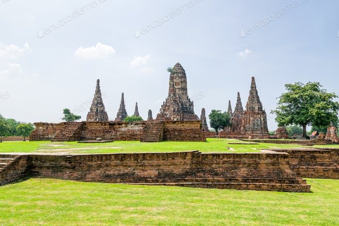 Wat Chaiwatthanaram ancient buddhist temple