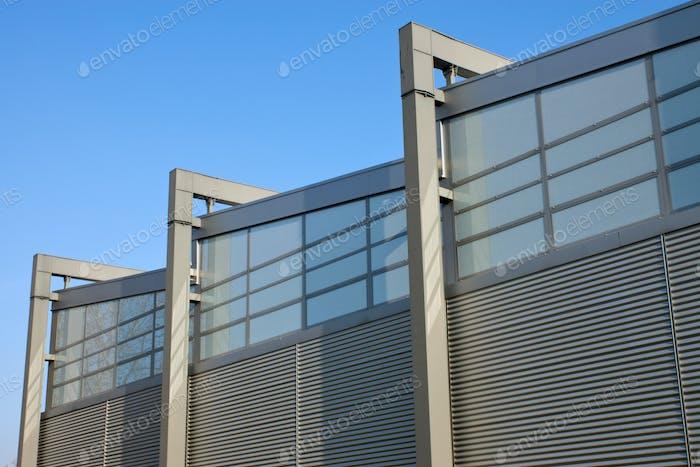 Facade of a factory building