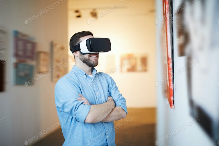 Man in VR Museum