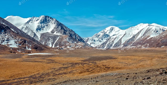 Snowy mountains. Russia, Siberia, Altai mountains