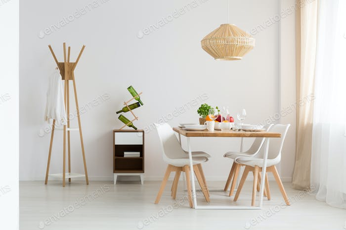 Dining zone in studio