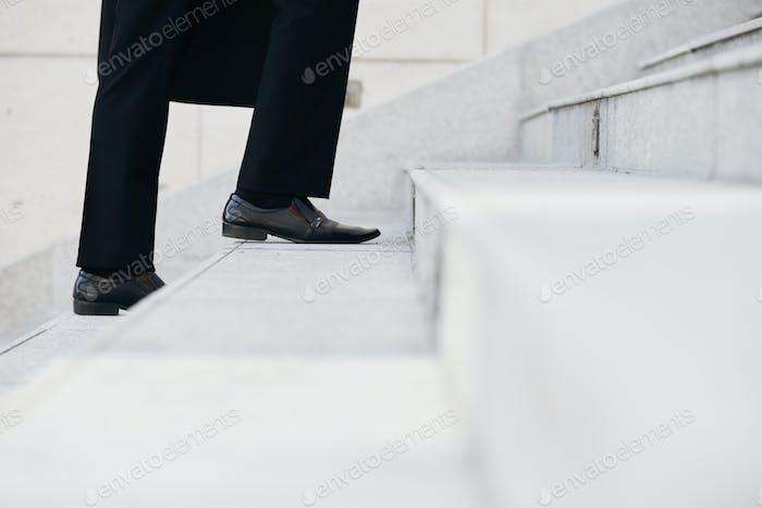 Walking upstairs