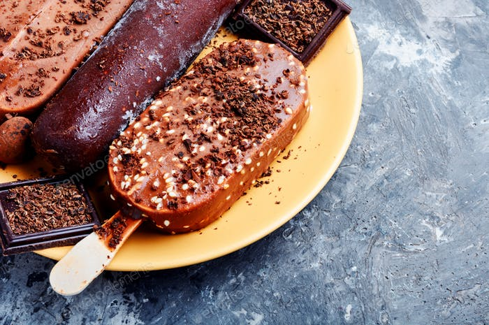 Chocolate ice lolly
