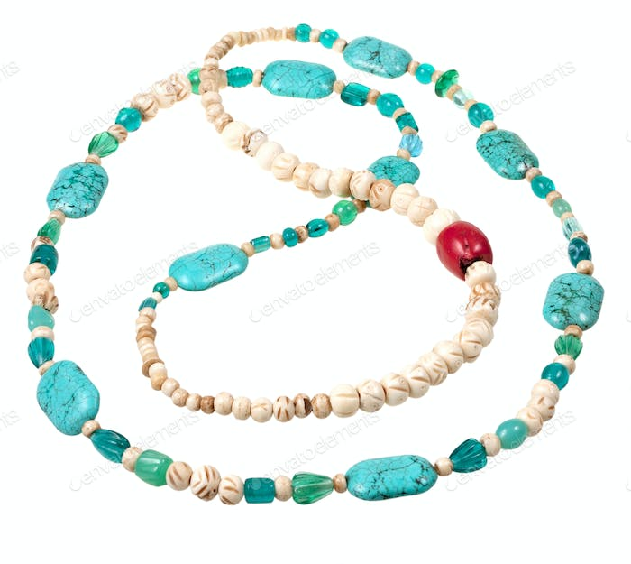 turquoise and bone beads