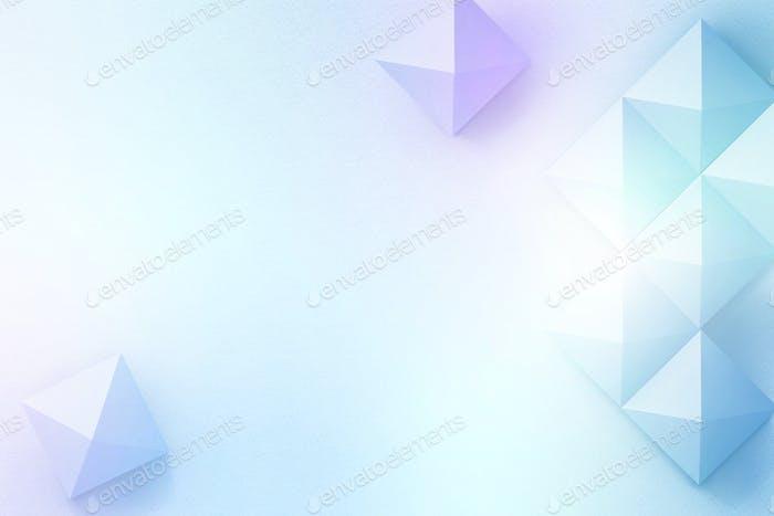 Fondo geométrico de diseño de manualidades de papel