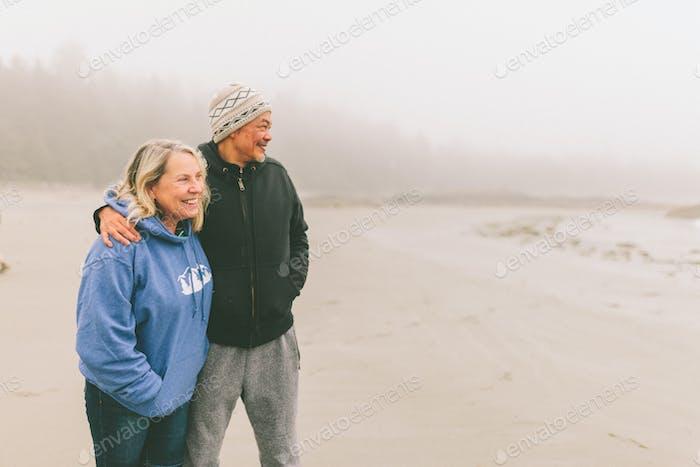 A Senior Couple at the Beach