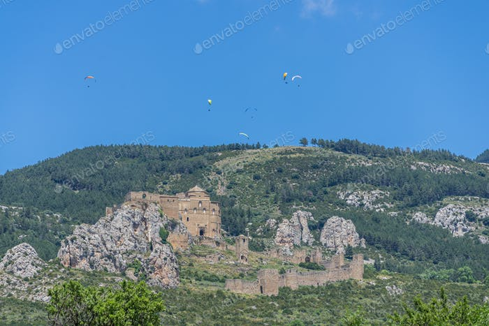 View of Castle of Loarre on Hill, Spain