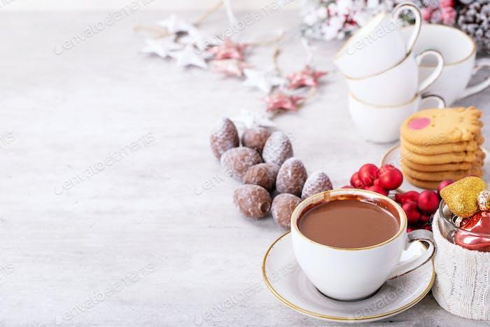 Hausgemachte heiße Schokolade