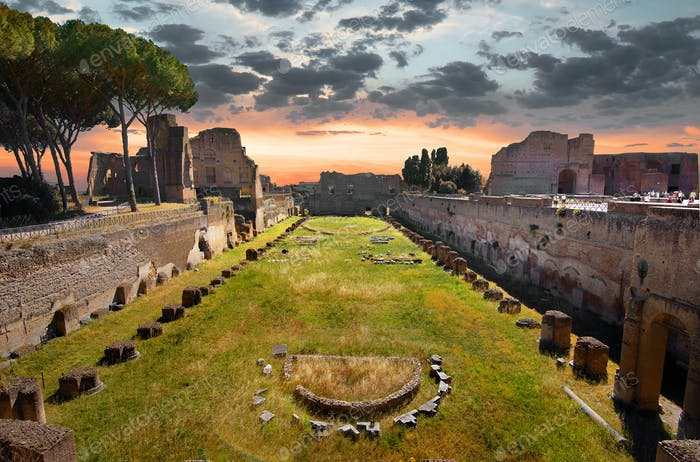 Ruinen des Stadions Domitanus