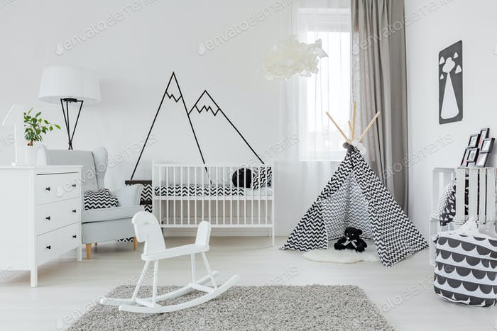 Thumbnail for Child room with white furniture