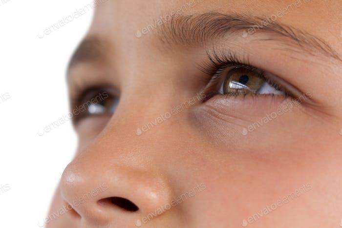 Boy with hazel eyes