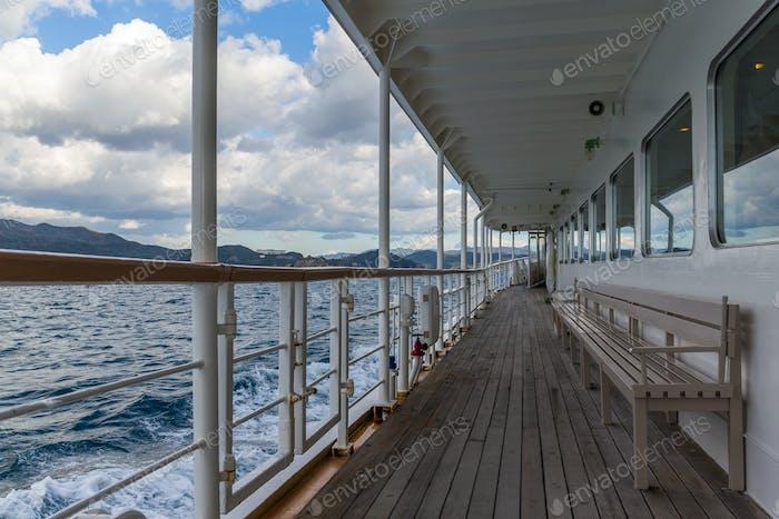 Kreuzfahrtschiff für Touristen