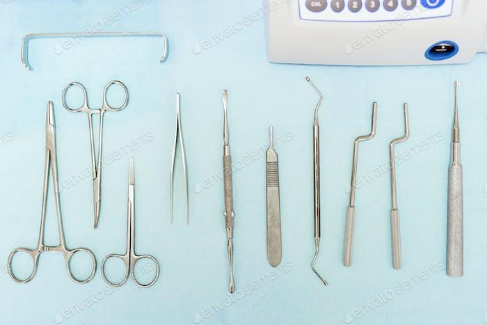 Detail of dental tools