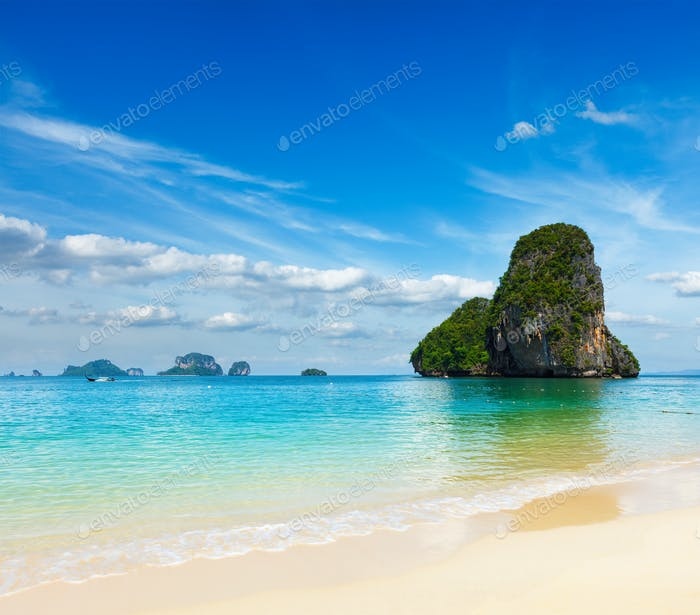 Pranang beach. Krabi, Thailand