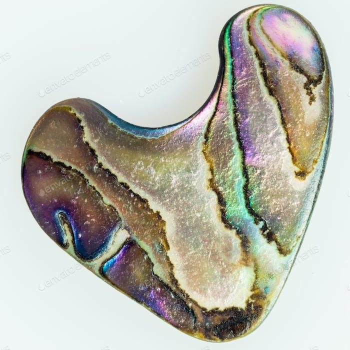 Perlmutt Perlmutt Abalone wie ein Herz geformt
