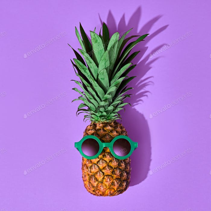 Pineapple Fruit Fashion. Tropical Mood. Minimal