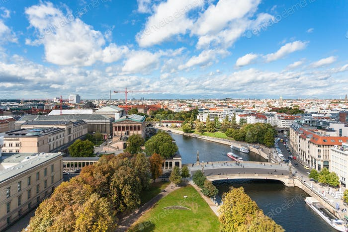 Berlin cityscape with Museumsinsel and Spree River