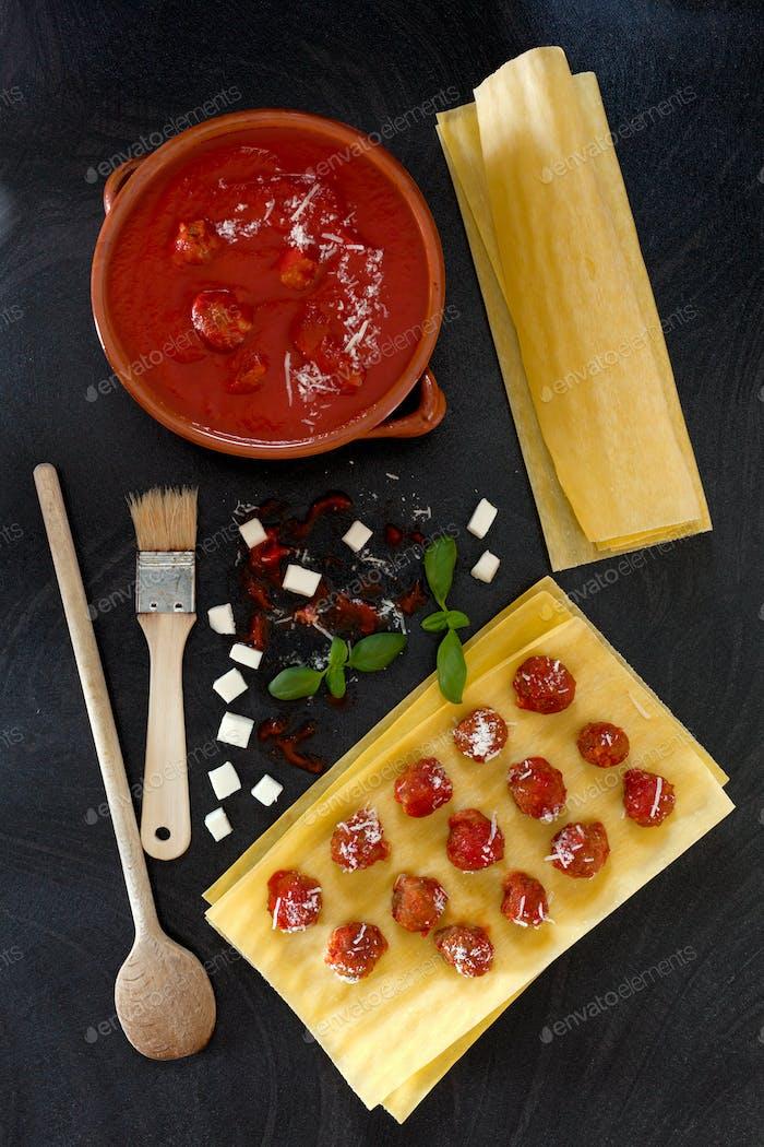 Lasagna Preparation