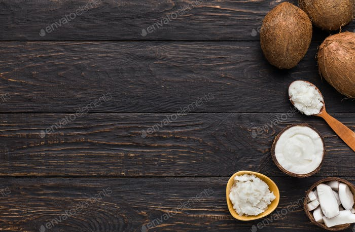 Kokosnusszutaten Konzept