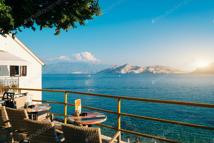 Sea view in Baska , Krk Island, Croatia