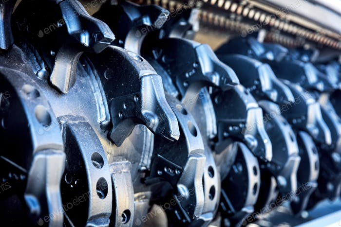 Steel industrial elements. Railway industry