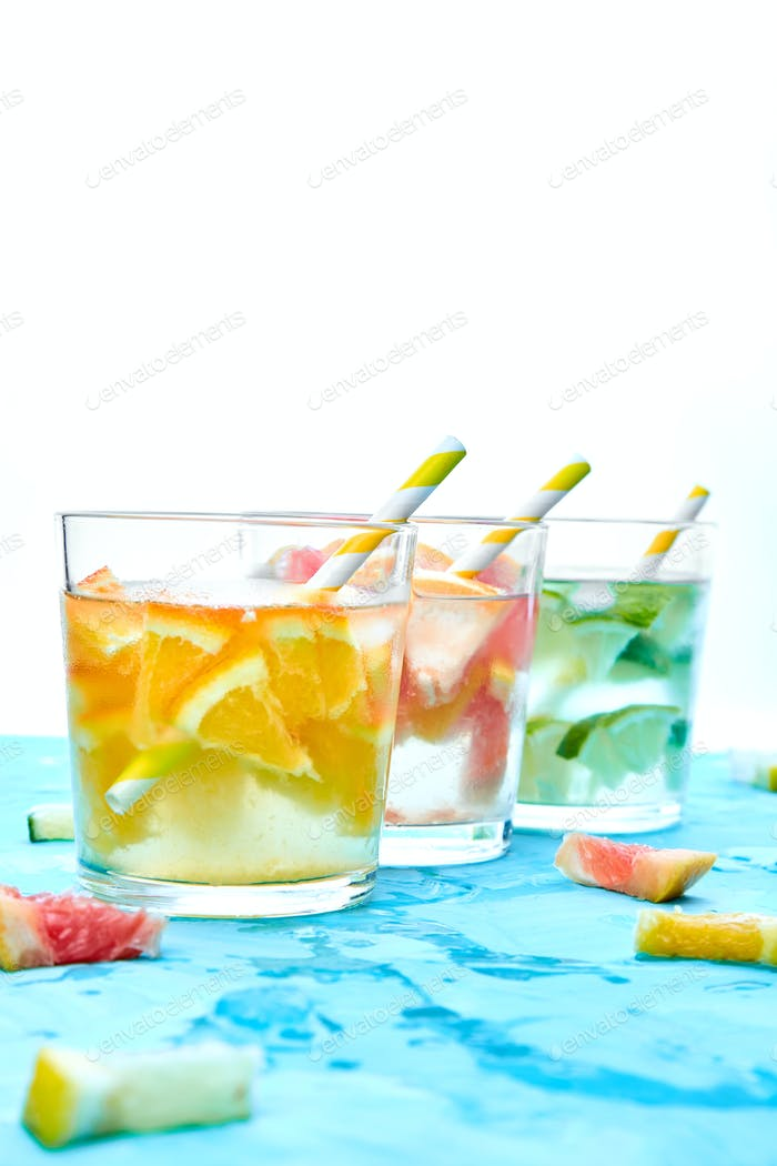 Healthy Detox citrus water or lemonade.